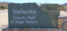 Vallecito Stage Station County Park