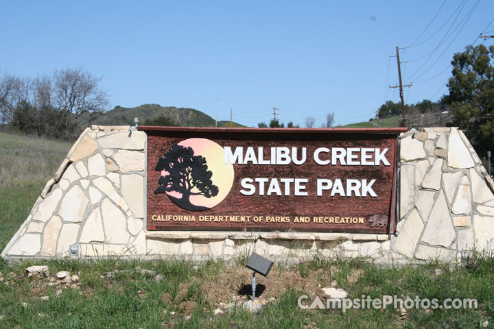 Malibu Creek State Park Sign